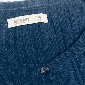 Old Navy Sweaters - Old Navy Cable Knit Navy blue cardigan